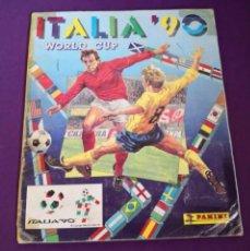Álbum de fútbol completo: ALBUM DE CROMOS WORLD CUP ITALIA 90 PANINI COMPLETO COLECCIONISMO . Lote 184637603