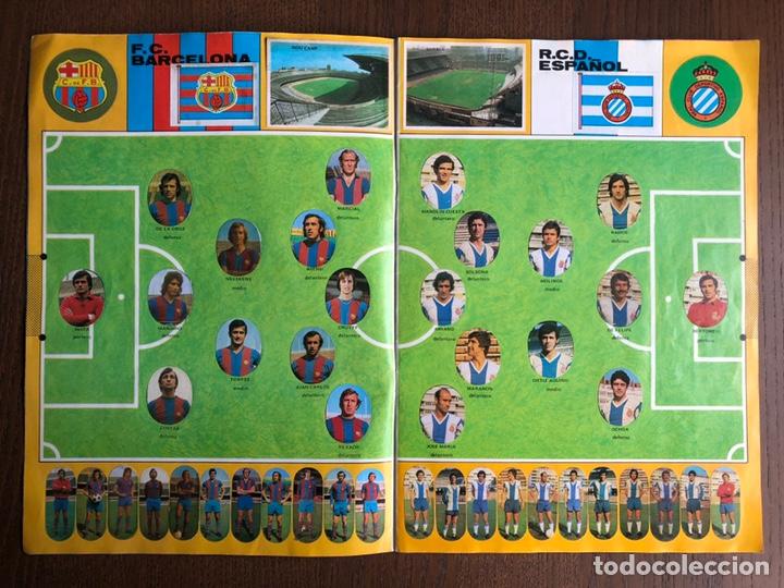 Álbum de fútbol completo: ALBUM FUTBOL LIGA MAGA 1975-1976 CROMOS TROQUELADOS ADHESIVOS 75-76 COMPLETO - Foto 3 - 186007197
