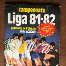 Album de football complet: ALBUM LIGA ESTE FUTBOL 81-82 COMPLETO 1981-1982 CON 62 DOBLES Y UNA CASILLA CON TRIPLE CROMO. Lote 186016863