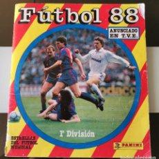 Álbum de fútbol completo: ÁLBUM CROMOS 1988 FÚTBOL LIGA 1ª DIVISIÓN 88 ED. PANINI. Lote 186265718