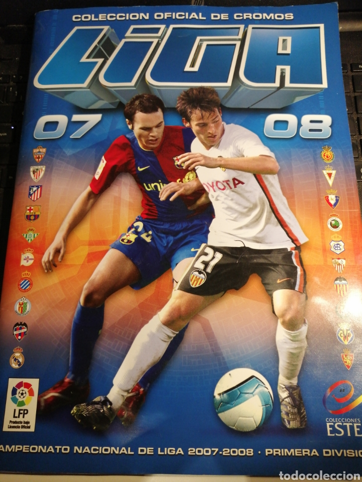 ALBUM FUTBOL LIGA ESTE 07 08 COMPLETO CON 559 CROMOS (Coleccionismo Deportivo - Álbumes y Cromos de Deportes - Álbumes de Fútbol Completos)