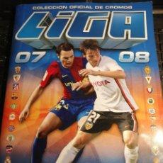 Álbum de fútbol completo: ALBUM FUTBOL LIGA ESTE 07 08 COMPLETO CON 559 CROMOS. Lote 189179062