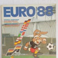 Álbum de fútbol completo: ALBUM PANINI. - UEFA CUP EURO 88 - #. Lote 189354241