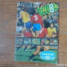 Álbum de fútbol completo: ALBUM CROMOS FUTBOL EN ACCION DANONE 82 COMPLETO. Lote 189358177