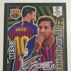 Álbum de fútbol completo: MESSI BALON DE ORO FIRMADO ADRENALYN 18 19(520). Lote 189588635