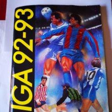 Álbum de fútbol completo: ÁLBUM 92/93 COMPLETO ,ZAMORANO (2) ALDANA(2) NANDO(2)ROMEL (2) HERRERA, ETC.. Lote 189987066