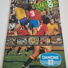 Álbum de fútbol completo: ALBUM DE CROMOS DE FUTBOL COMPLETO, DANONE 82 DE LA FAMOSA SERIE FUTBOL EN ACCIÓN 1981 NARANJITO. Lote 190219952