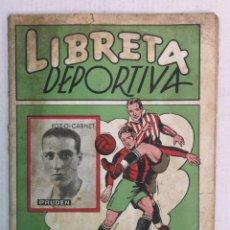 Álbum de fútbol completo: LIBRETA DEPORTIVA 1942 EDT. CISNE, FALTAN 53 CROMOS. Lote 190235486