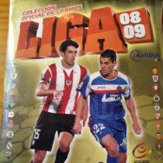 Álbum de fútbol completo: LIGA 08/ 09 EDICIONES ESTE 2008/ 2009 - CASI COMPLETO -. Lote 190411301