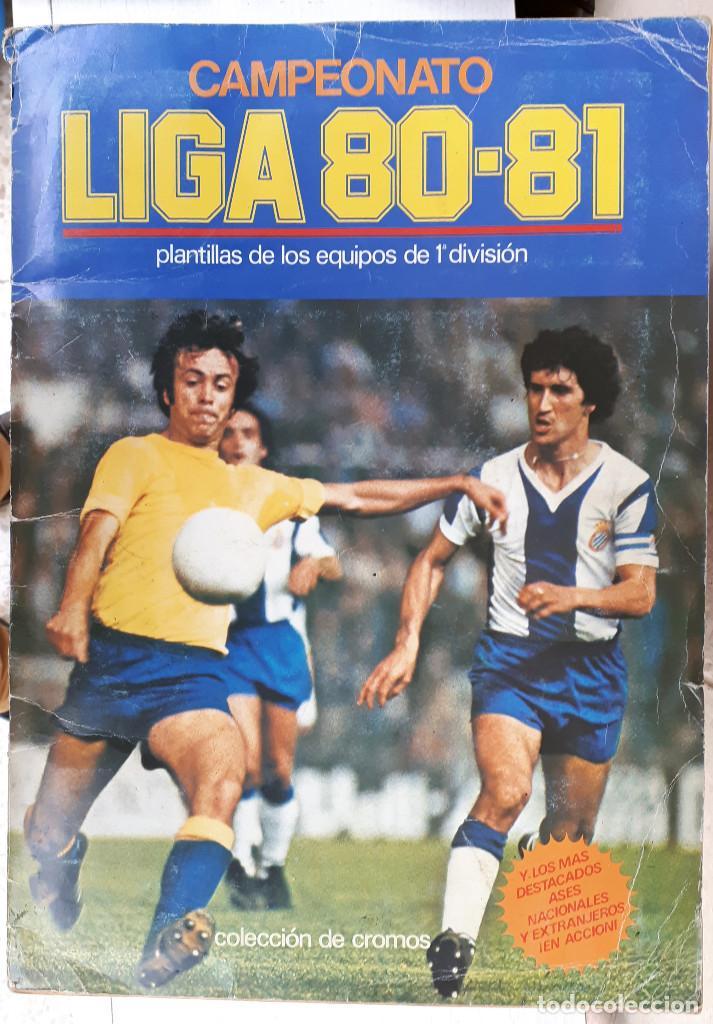 ALBUM FUTBOL LIGA 1980 1981 80 81 ESTE COMPLETO CON ASES EN ACCION ORIGINAL , K (Coleccionismo Deportivo - Álbumes y Cromos de Deportes - Álbumes de Fútbol Completos)