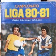 Álbum de fútbol completo: ALBUM FUTBOL LIGA 1980 1981 80 81 ESTE COMPLETO CON ASES EN ACCION ORIGINAL , K. Lote 190449887