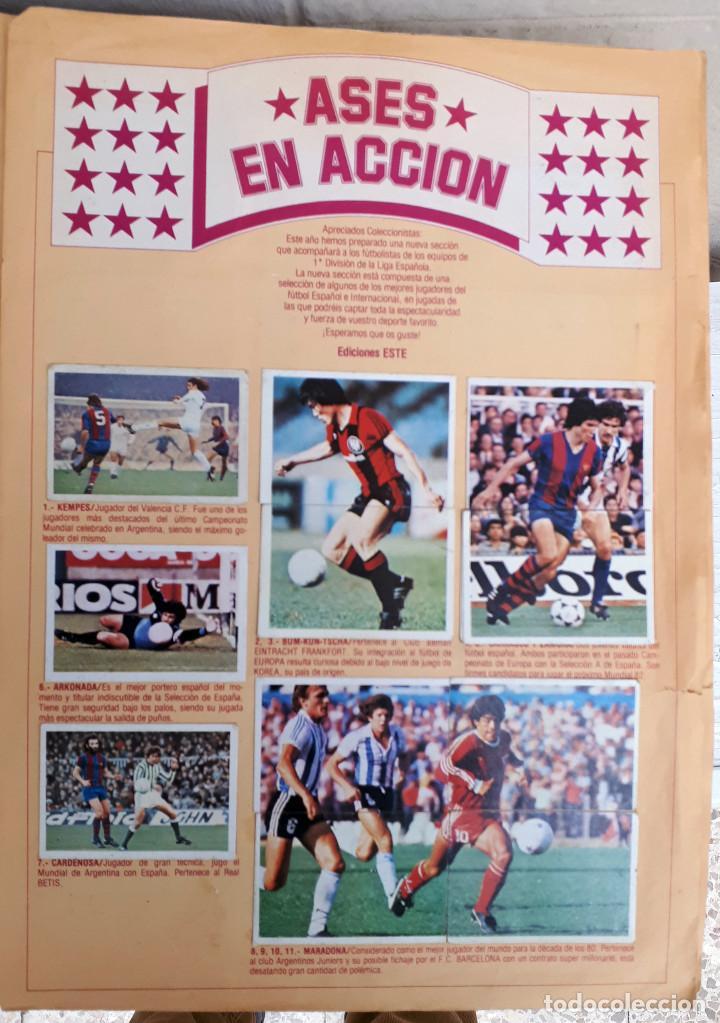Álbum de fútbol completo: ALBUM FUTBOL LIGA 1980 1981 80 81 ESTE COMPLETO CON ASES EN ACCION ORIGINAL , K - Foto 13 - 190449887