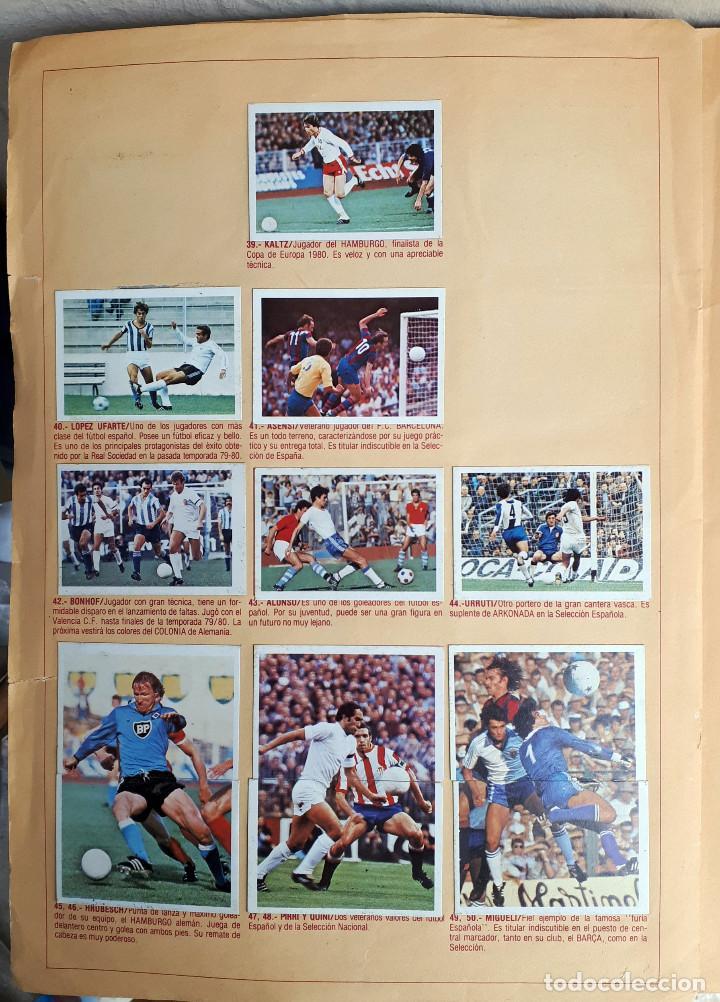 Álbum de fútbol completo: ALBUM FUTBOL LIGA 1980 1981 80 81 ESTE COMPLETO CON ASES EN ACCION ORIGINAL , K - Foto 16 - 190449887