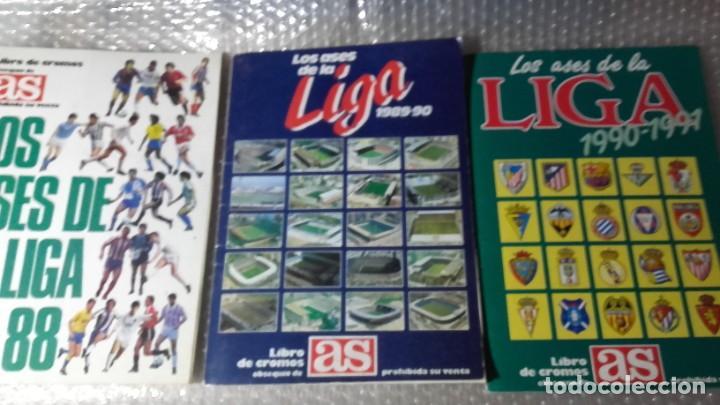 LIBRO DE CROMOS AS. ASES DE LA LIGA 1987 - 1991. 3 ALBUNES COMPLETOS DE 260 CROMOS. (Coleccionismo Deportivo - Álbumes y Cromos de Deportes - Álbumes de Fútbol Completos)