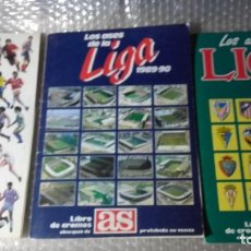 Álbum de fútbol completo: LIBRO DE CROMOS AS. ASES DE LA LIGA 1987 - 1991. 3 ALBUNES COMPLETOS DE 260 CROMOS.. Lote 190479536