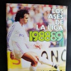 Álbum de fútbol completo: ÁLBUM CROMOS FÚTBOL NUEVO 100% COMPLETO LOS ASES DE LA LIGA 88-89 ORIGINAL AS 1988-1989. Lote 190763172