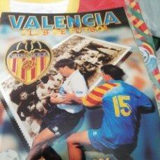 Álbum de fútbol completo: ALBUM COMPLETO VALENCIA CF. SU HISTORIA EN CROMOS. Lote 190765670