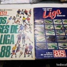 Álbum de fútbol completo: ALBUMES LOS ASES DE LA LIGA TEMPORADA 87-88 Y 89-90. Lote 191366211