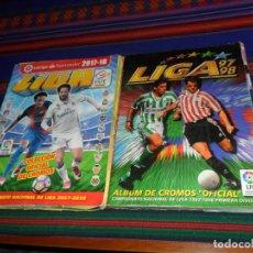 Álbum de fútbol completo: ESTE LIGA 1997 1998 97 98 COMPLETO Y ESTE LIGA 2017 2018 17 18 COMPLETO. REGALO HISTORIA REAL MADRID. Lote 191552712