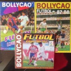 Álbum de fútbol completo: LOTE ÁLBUMES BOLLYCAO LIGA CROMOS FÚTBOL TEMPORADAS 87-88 / 96-97 / 97-98. Lote 191956506