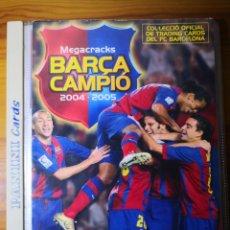 Caderneta de futebol completa: ALBUM COMPLETO MEGACRACKS 2004-2005 BARÇA CAMPIÓ PANINI SPORTS. Lote 192841768