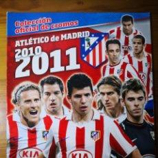 Caderneta de futebol completa: ALBUM ATLÉTICO DE MADRID 2010-2011 COMPLETO, PANINI. Lote 192842135