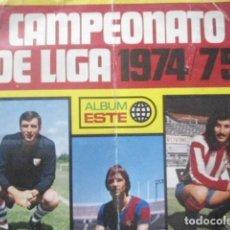 Álbum de fútbol completo: ESTE 1974/75 COLECCION SIN PEGAR CON CASI TODO LO EDITADO 339 CROMOS,SOLO FALTAN 15,SIN ALBUM - LEER. Lote 83617988