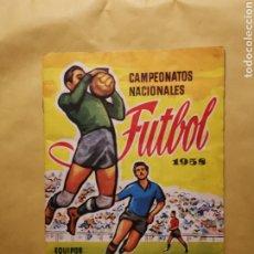 Álbum de fútbol completo: ESPECTACULAR ÁLBUM RUIZ ROMERO 1958 COMPLETO. Lote 193954737
