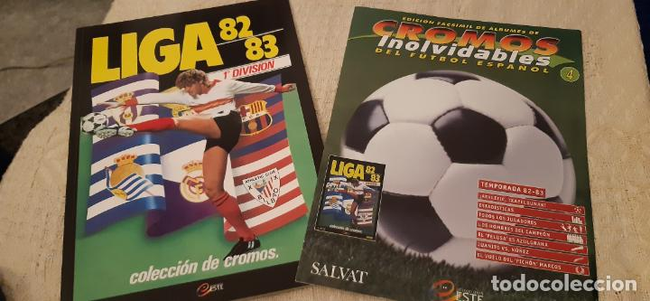 LIGA 82 83 EDICIÓN FACSÍMIL ÁLBUM Y FASCÍCULO CROMOS INOLVIDABLES FÚTBOL ESPAÑOL SALVAT ESTE PANINI (Coleccionismo Deportivo - Álbumes y Cromos de Deportes - Álbumes de Fútbol Completos)