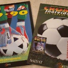 Álbum de fútbol completo: LIGA 89 90 EDICIÓN FACSÍMIL ÁLBUM Y FASCÍCULO CROMOS INOLVIDABLES FÚTBOL ESPAÑOL SALVAT ESTE PANINI. Lote 193977703
