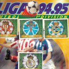Álbum de fútbol completo: ALBUM DE CROMOS FUTBOL LIGA 94-95 EDITORIAL ESTE TOTALMENTE COMPLETO CON CROMOS DOBLES Y FICHAJES. Lote 194193705