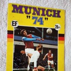 Álbum de fútbol completo: ALBUM MUNDIAL FUTBOL MUNICH 74 FHER COMPLETO Y CON PUBLICIDAD COCA COLA. Lote 194285215