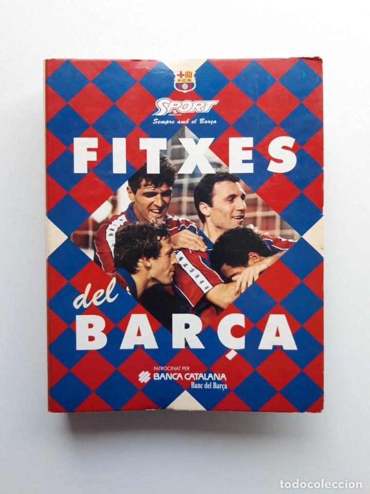 ALBUM COMPLETO CON 20 FITXES DEL BARÇA SPORTS BANCA CATALANA (Coleccionismo Deportivo - Álbumes y Cromos de Deportes - Álbumes de Fútbol Completos)