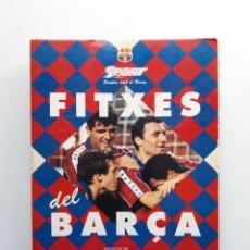 Álbum de fútbol completo: ALBUM COMPLETO CON 20 FITXES DEL BARÇA SPORTS BANCA CATALANA. Lote 194292530