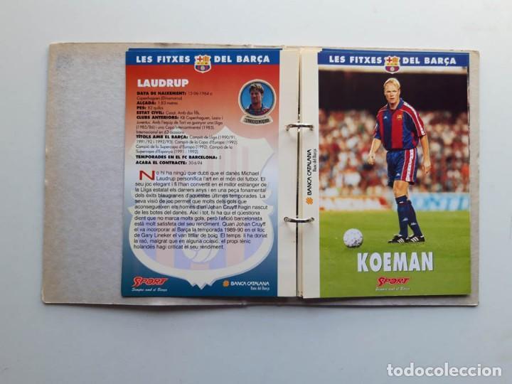 Álbum de fútbol completo: Album completo con 20 Fitxes del Barça Sports Banca Catalana - Foto 3 - 194292530