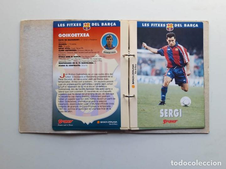 Álbum de fútbol completo: Album completo con 20 Fitxes del Barça Sports Banca Catalana - Foto 4 - 194292530