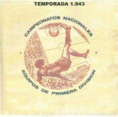 Álbum de fútbol completo: TEMPORADA 1943 COMPLETA. Lote 194318333