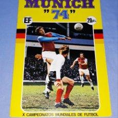 Álbum de fútbol completo: ALBUM DE CROMOS COMPLETO MUNICH 74 ORIGINAL FHER AÑO 1973 TARJETA COCA COLA FANTA Y POSTER CENTRAL. Lote 194338468