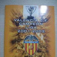 Álbum de fútbol completo: ALBUM DE CROMOS VALENCIA CF CAMPEON LIGA 2001 - 2002 SUPER DEPORTE GENERALITAD VALENCIANA COMPLETO. Lote 194501130