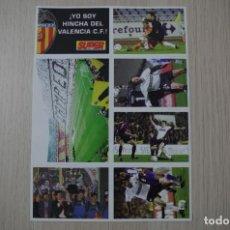 Álbum de fútbol completo: LAMINA DE CROMOS VALENCIA CF CAMPEON LIGA 2001 - 2002 SUPER DEPORTE GENERALITAD VALENCIANA COMPLETO. Lote 194501488