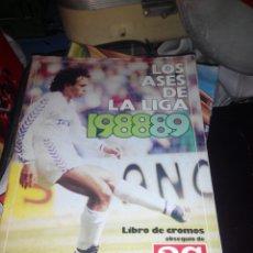 Álbum de fútbol completo: LOS ASES DE LA LIGA 1988-89. Lote 194604407