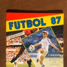 Álbum de fútbol completo: ALBUM LIGA FUTBOL 87 PANINI-CROMO CROM COMPLETO MUY BUEN ESTADO. Lote 194620163