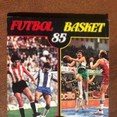 Álbum de fútbol completo: PANINI ALBUM FUTBOL BASKET 85 COMPLETO MUY BUEN ESTADO. Lote 194620757