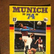 Álbum de fútbol completo: ALBUM FUTBOL MUNICH 74 COMPLETO EDICIONES FHER. Lote 194621713