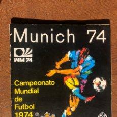 Álbum de fútbol completo: ALBUM VULCANO FUTBOL WORLD CUP MUNCHEN 74 MUNDIAL COMPLETO MUNICH 74 MUY BUEN ESTADO. Lote 194622181