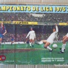 Álbum de fútbol completo: EDICIONES ESTE ALBUM LIGA 1975/76 CON 20 DOBLES Y 2 COLOCAS,FALTAN FICHAJES. Lote 194646283