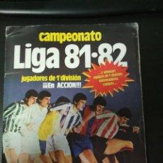 Álbum de fútbol completo: ÁLBUM EDICIONES ESTE 1981/82 81/82 CON TODO LO EDITADO MENOS ALBALADEJO Y KUSTODIC . Lote 194731397