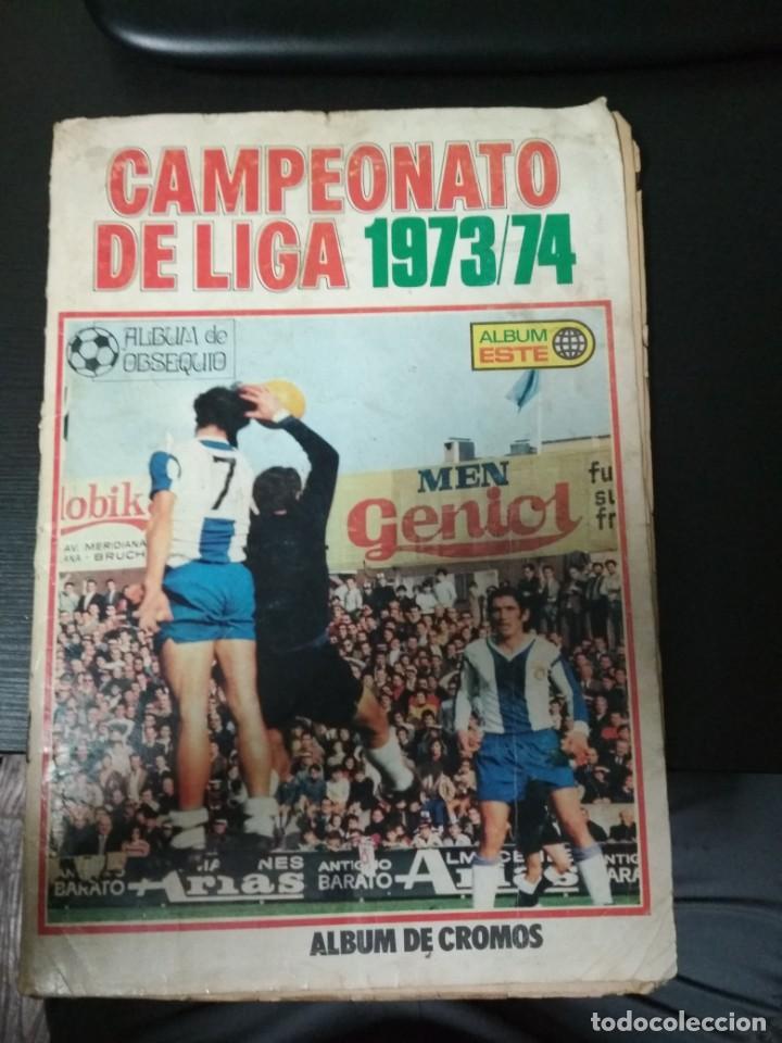 ÁLBUM ESTE 73/74 COMPLETO CON LOS CROMOS PEGADOS POR ARRIBA (Coleccionismo Deportivo - Álbumes y Cromos de Deportes - Álbumes de Fútbol Completos)
