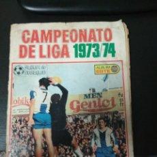 Álbum de fútbol completo: ÁLBUM ESTE 73/74 COMPLETO CON LOS CROMOS PEGADOS POR ARRIBA. Lote 194733970