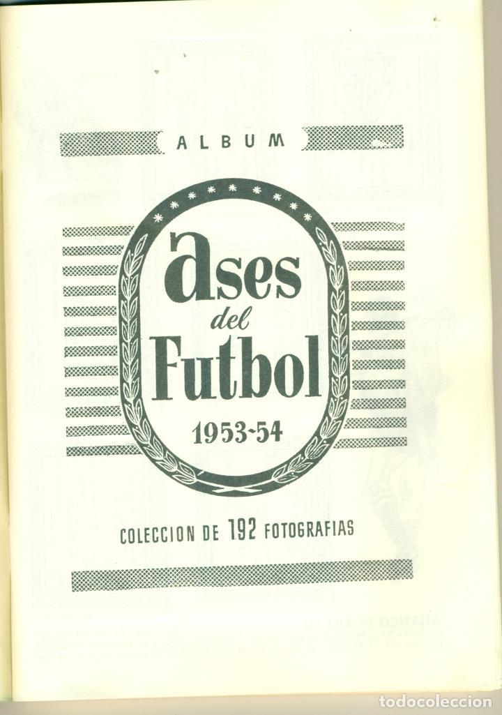 Álbum de fútbol completo: ASES DEL FUTBOL DE BRUGUERA LIGA 1953-54 COMPLETO. FACILIDADES DE PAGO - Foto 2 - 194752645